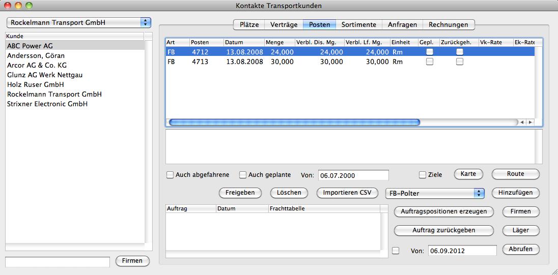 Logiplan Rundholz Logistik Schüttgut Software Advanced Information